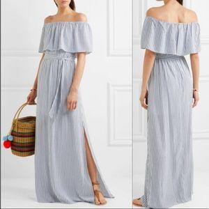Alice + Olivia Grazi Off-the-shoulder Maxi Dress
